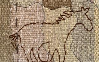 embroidery detail - Susan Hart Henegar - Tapestries & Custom Textiles