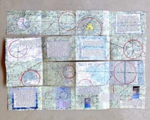 maze folded map book - Susan Hart Henegar - Tapestries & Custom Textiles