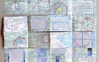 maze folded map book - Susan Hart Henegar - Tapestries & Custom Textiles