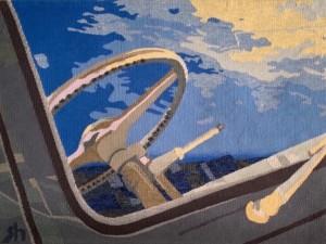night vision - Susan Hart Henegar - Tapestries & Custom Textiles