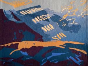where cloudshadows walk - Susan Hart Henegar - Tapestries & Custom Textiles