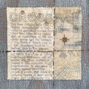 applique detail crosswroads - Susan Hart Henegar - Tapestries & Custom Textiles