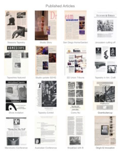 published articles - Susan Hart Henegar - Tapestries & Custom Textiles